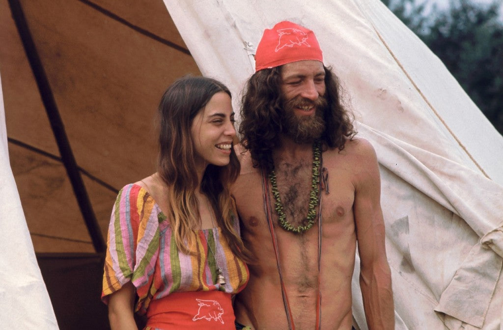 A Couple At Woodstock Music Festival