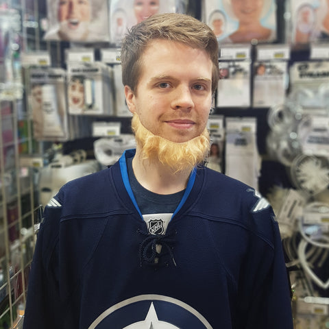 Patrik Laine Look-Alike Scruffy Blonde Beard