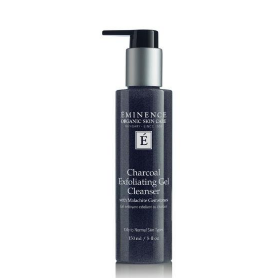 Charcoal Exfoliating Gel Cleanser with Malachite Gemstones