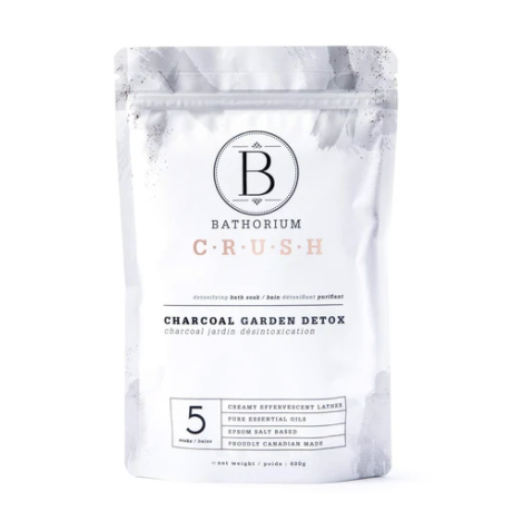 Bathorium Charcoal Garden Detox Crush Bath