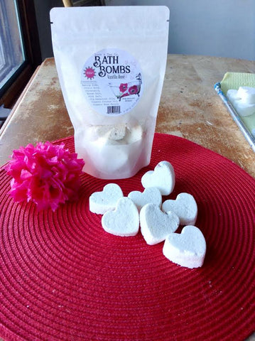 Bath Bombs Vanilla Rose