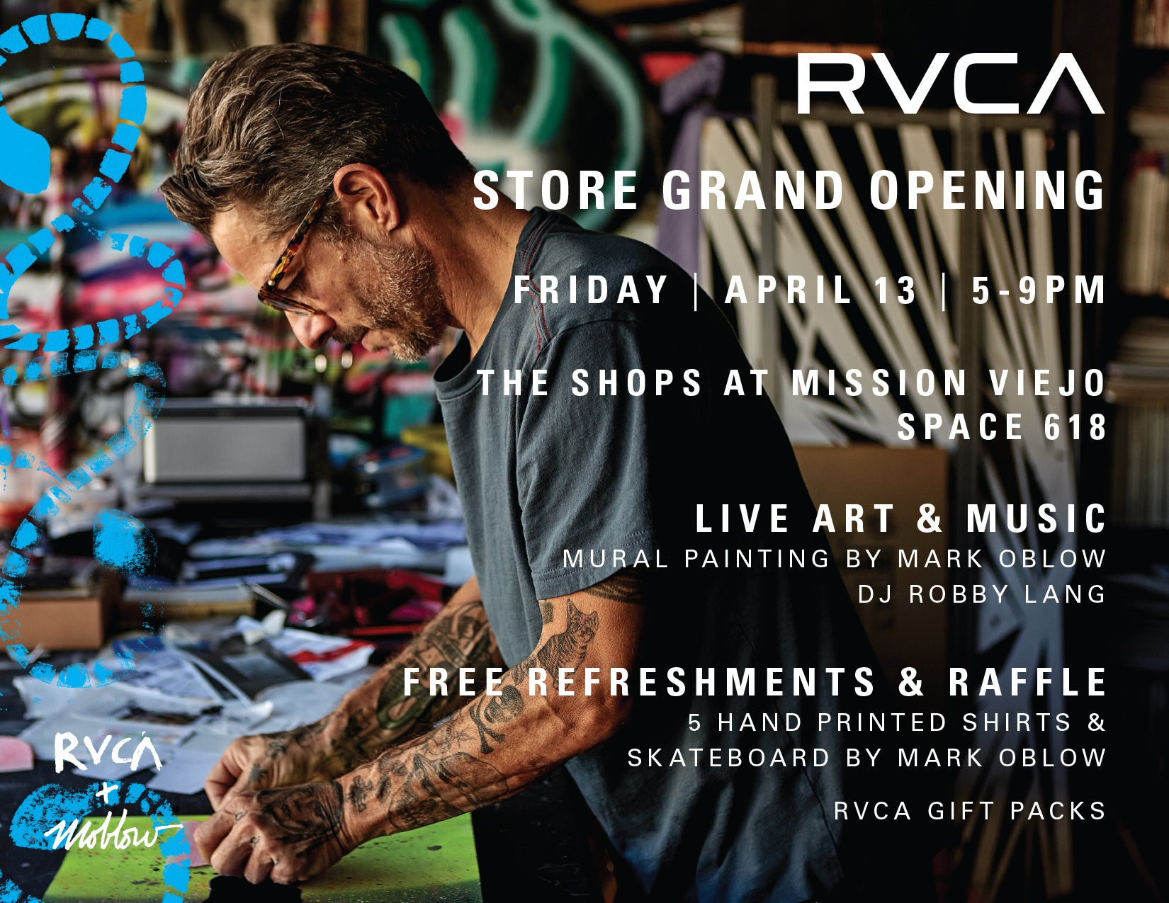 RVCA Store Opening w/ Mark Oblow: April 13th – EQUAL DIST