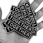 Together Together · 3 Pack Embroidered Patch Permanent Sticker Set