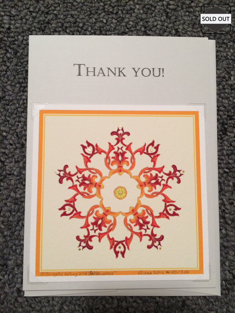 """Sandalwood Star"" Thank You Cards"