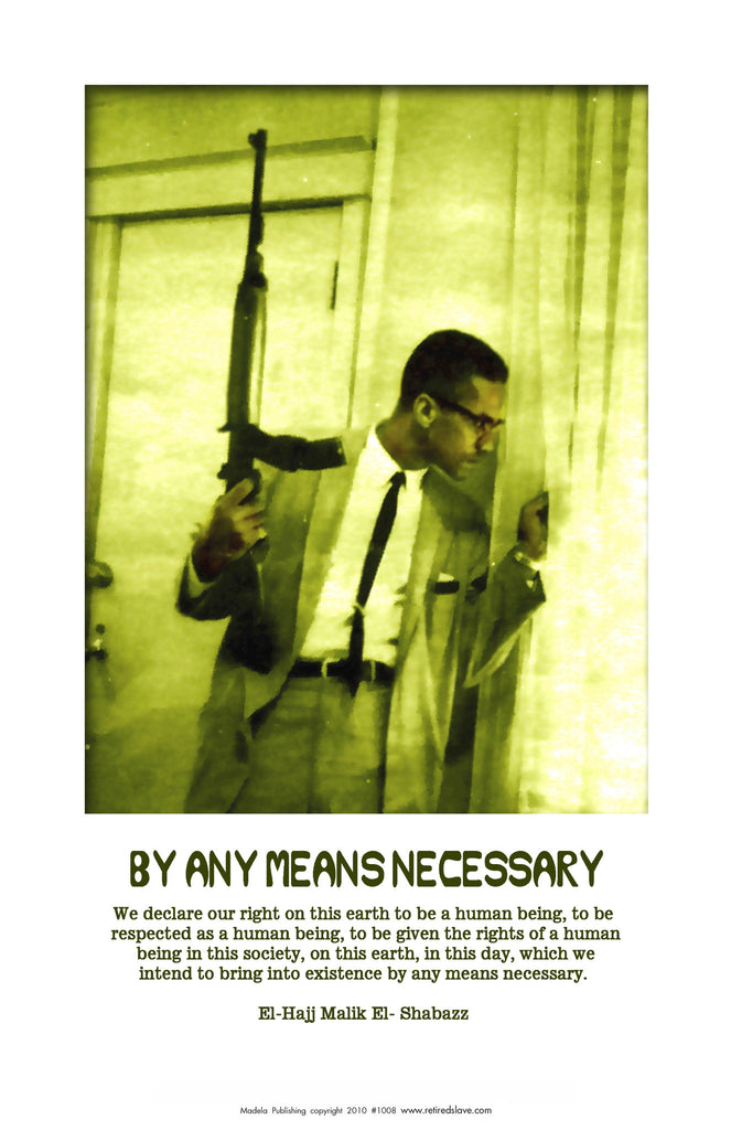African American Historical Posters Of Malcolm X 1008