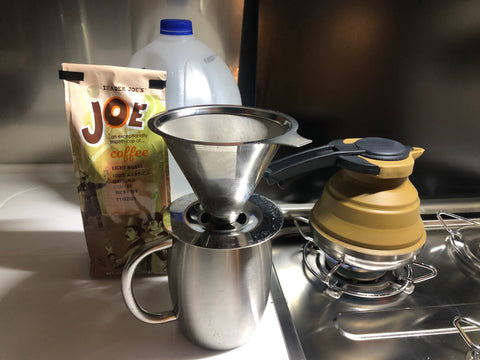 The aroma is amazing when you use a pour-over funnel to make your morning coffee.
