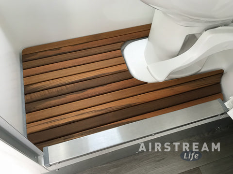 16-foot Airstream Sport/Bambi/Caravel Teak Shower Mat