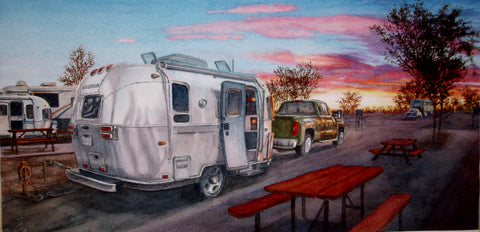 """Arizona Campground—Sunset"" by Don Lake"