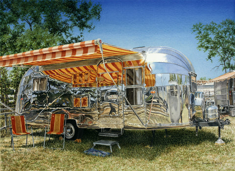 """57 Airstream Caravanner"" by Don Lake"