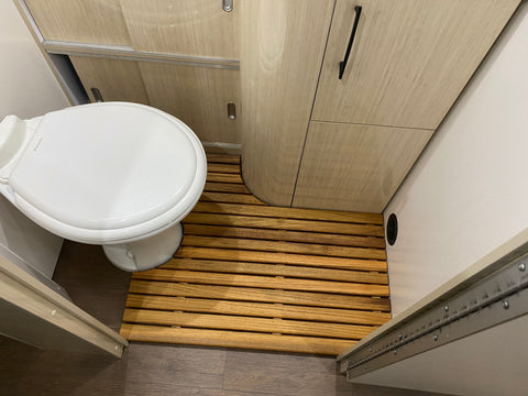 27FB Airstream Teak Bathroom Floor Mat