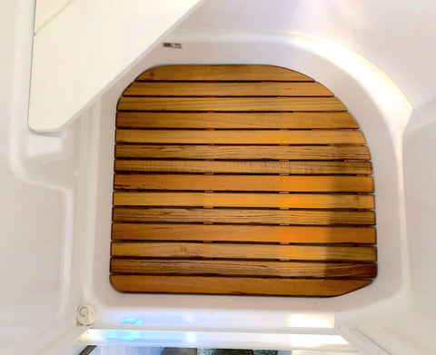 2021 and later Corner Bath Airstream Teak Shower Mat