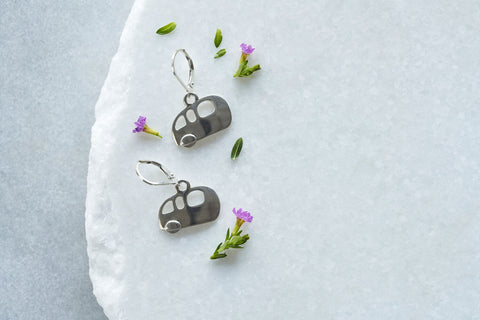 Little Lucky Trailer Earrings in Sterling Silver