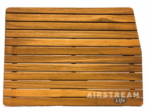 Teak Airstream Shower Mat