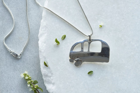 Trailer Dream Necklace in Sterling Silver