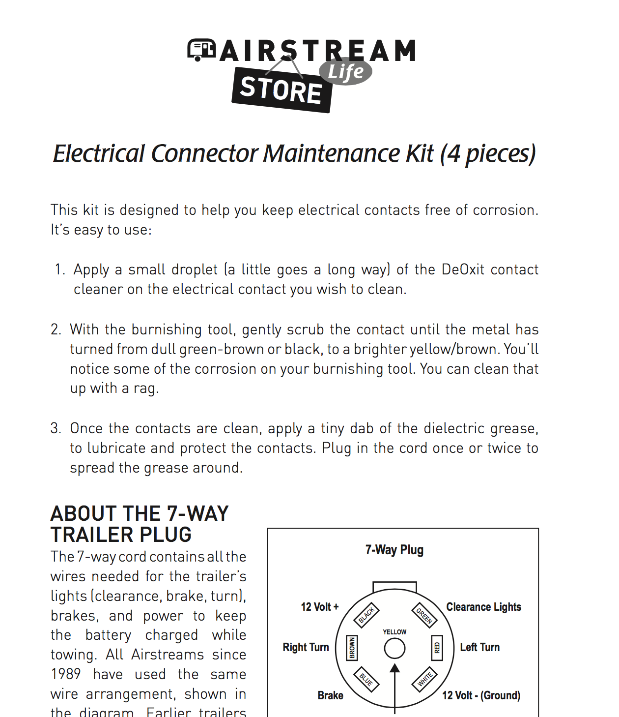 Airstream 7 Pin Wiring Diagram Vintage Trailer Electrical Connector Maintenance Kit 4 Pcs Life Store Gmc