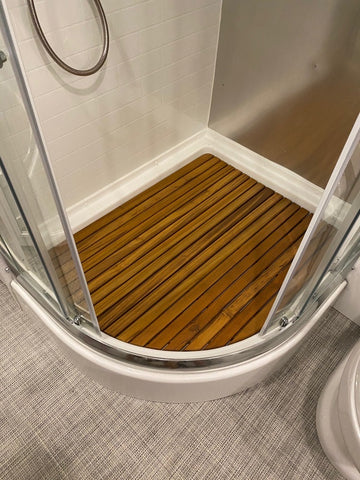 Classic 33FB Airstream Teak Shower Mat
