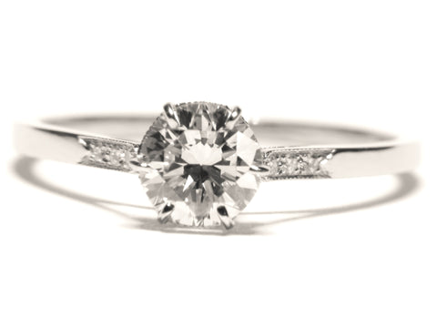 Platinum Handmade Engagement Ring Setting- 130-1055 - Craig Coyne Jewelers, Inc.
