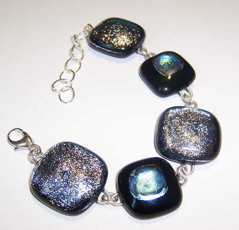 Black and Silver-Blue Bracelet