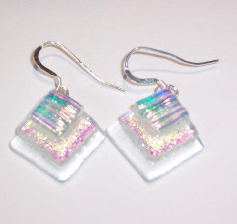 Layered Clear Shimmer Earrings