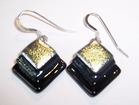 Black and Silver Small Earrings