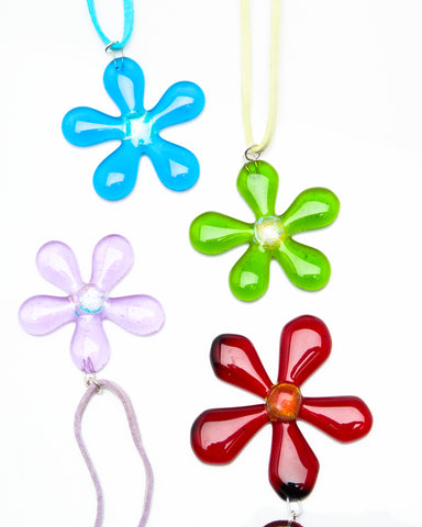 Flower Pendant on Suede