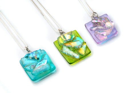 Mini Square Pastel Abstract Pendant