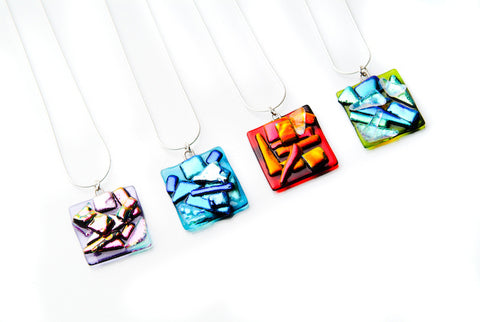 Square Abstract Pendant