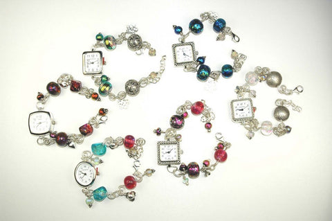 Lucky dip beaded charm watches