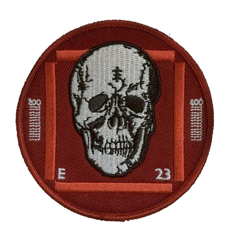 Test Card Skull embroidered patch
