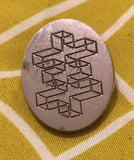 Discipline Exhibition Wireframe Cross steel pin