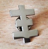 Psychic Cross steel pin