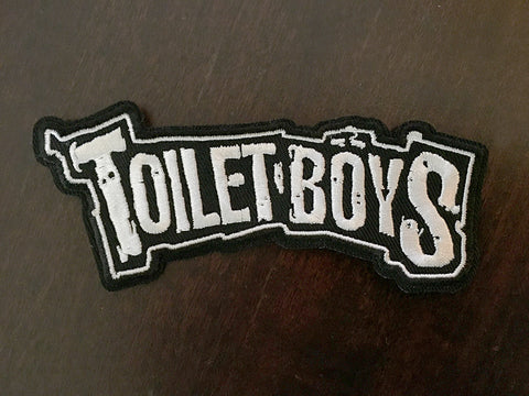 Toilet boys embroidered patch