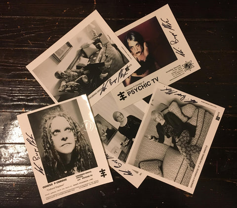 Set of 5 GBP-O press shots - autographed