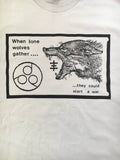 Psychic TV GREY T-SHIRT - Vintage Lone Wolves design