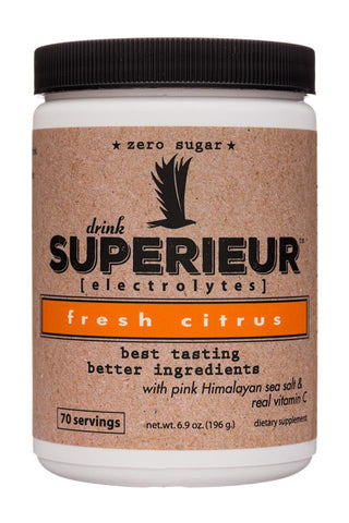Superieur Electrolytes Fresh Citrus 70 Servings
