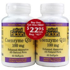 Coenzyme Q10 100mg-  2 Pack of 60 Softgels