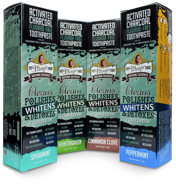 Activated Charcoal Toothpaste for Whitening - Fluoride-Free Non-GMO. No SLS. No Glycerin