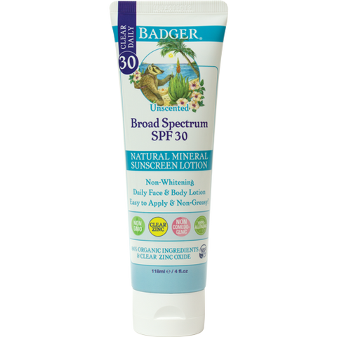 Clear Zinc Unscented Sunscreen Lotion - SPF 30
