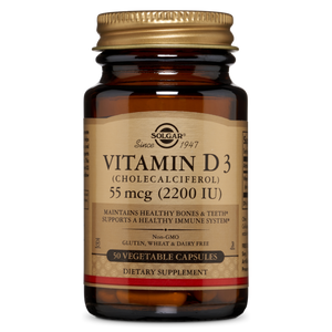 Vitamin D3 (Cholecalciferol) 2200 IU Vegetable Capsules