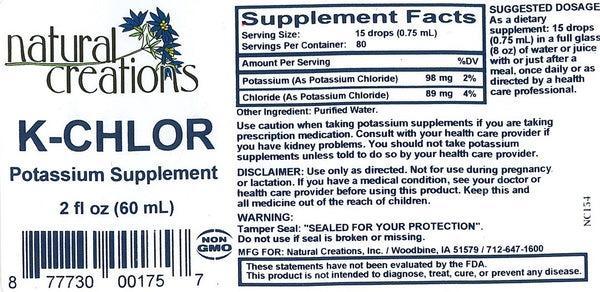 K-Chlor - Potassium Supplement (Back ordered; no ETA)