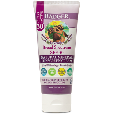 Clear Lavender Sunscreen Cream - SPF 30