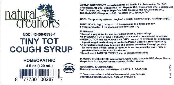 Tiny Tot Cough Syrup 4oz