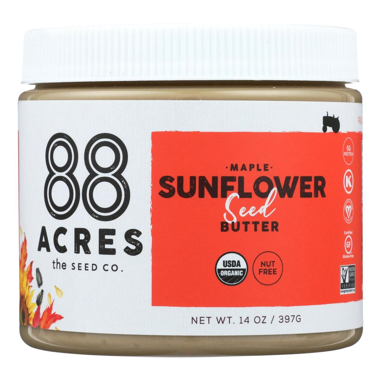 MAPLE ROASTED SUNFLOWER SEED BUTTER 14oz
