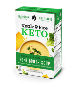 Broccoli Cheddar Bone Broth Soup - KETO