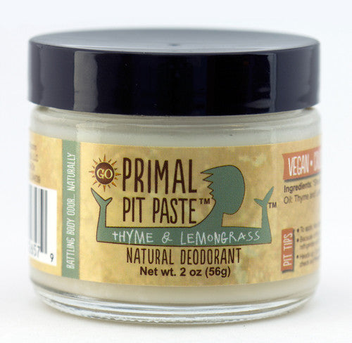 Primal Pit Paste Jar, Regular - Thyme & Lemongrass