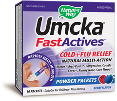 Umcka Fast Actives Cold & Flu Packets 10's