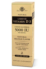 Liquid Vitamin D3 (Cholecalciferol) 5000 IU - Natural Orange Flavor