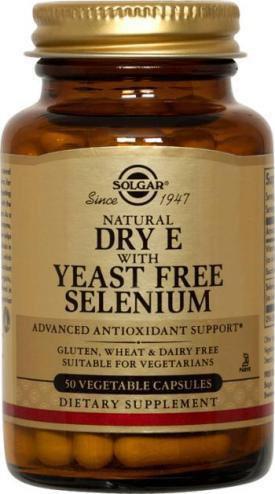 Dry Vitamin E with Yeast Free Selenium Vegetable Capsules