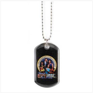 Obama Family Dog Tag Necklace