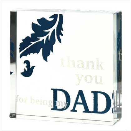 Thank You Dad Glass Cube
